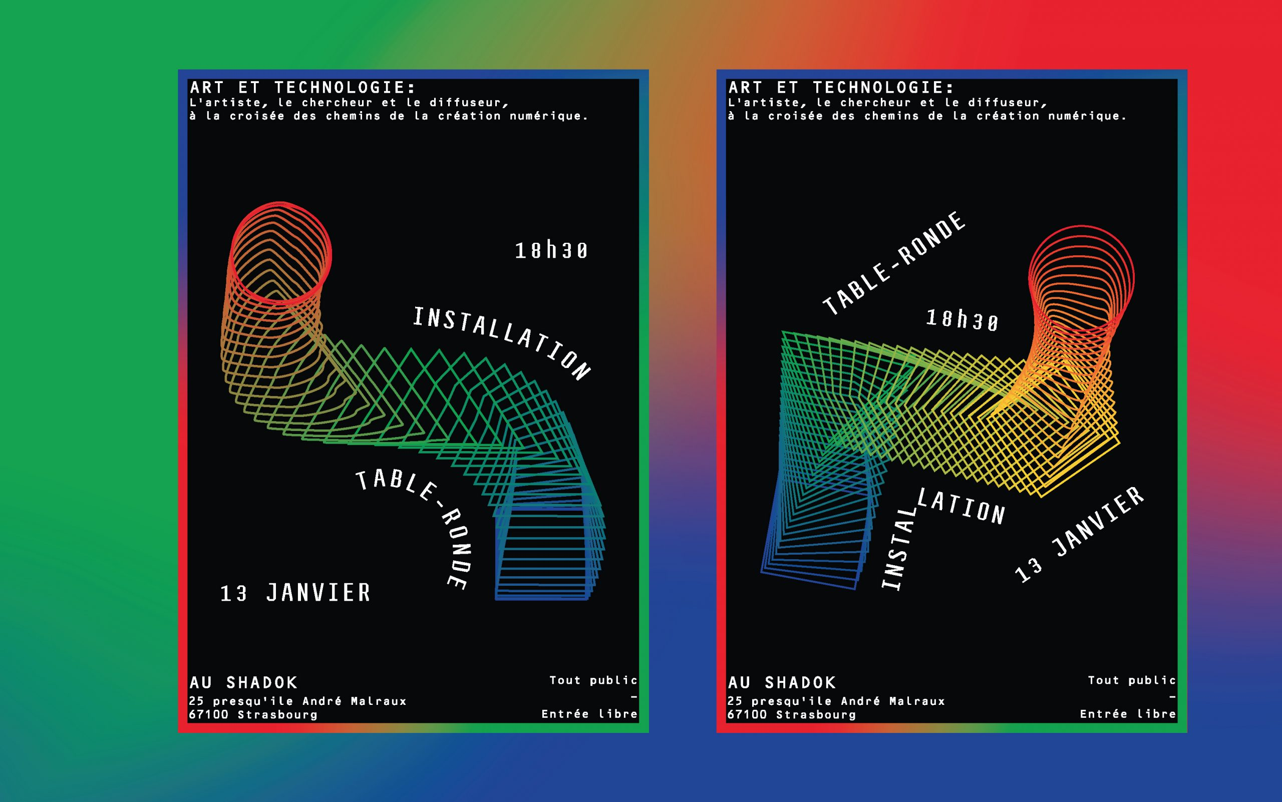 Affiches Art et Technologie au Shadok