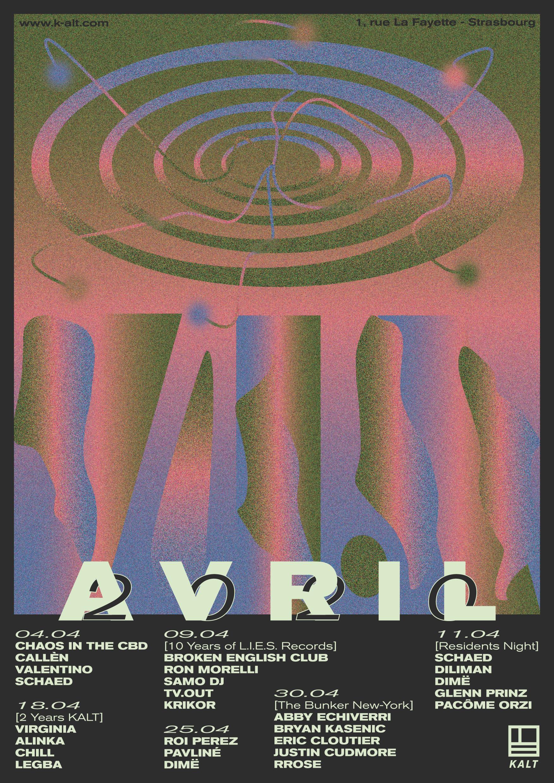 Affiche KALT Avril 2020